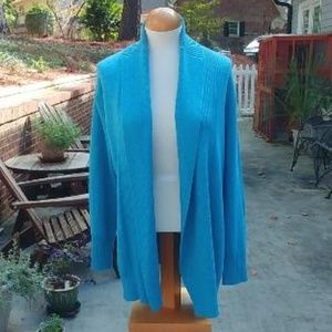 Coldwater Creek Open Cardigan Sweater Size L 14
